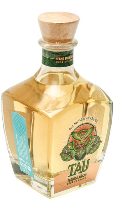 Bottle of Tau Tequila Añejo