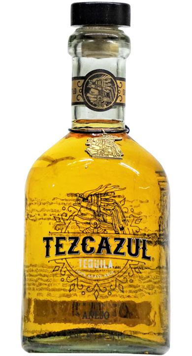 Bottle of Tezcazul Tequila Añejo