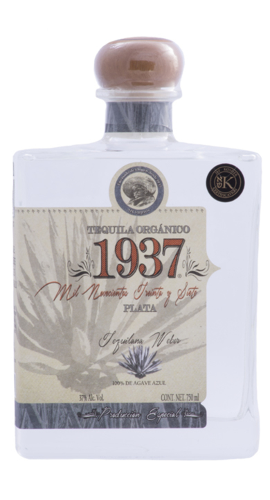 Bottle of Tequila 1937 Plata Orgánico