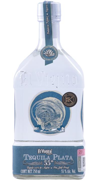 Bottle of El Viejito Plata 55