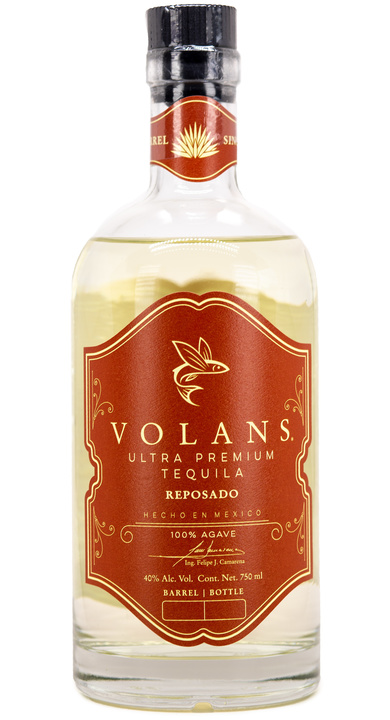 Bottle of Volans Single Barrel Reposado