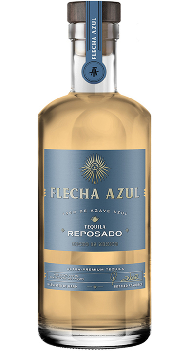 Bottle of Flecha Azul Tequila Reposado