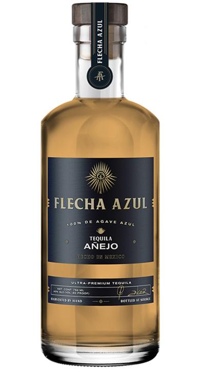 Bottle of Flecha Azul Tequila Añejo
