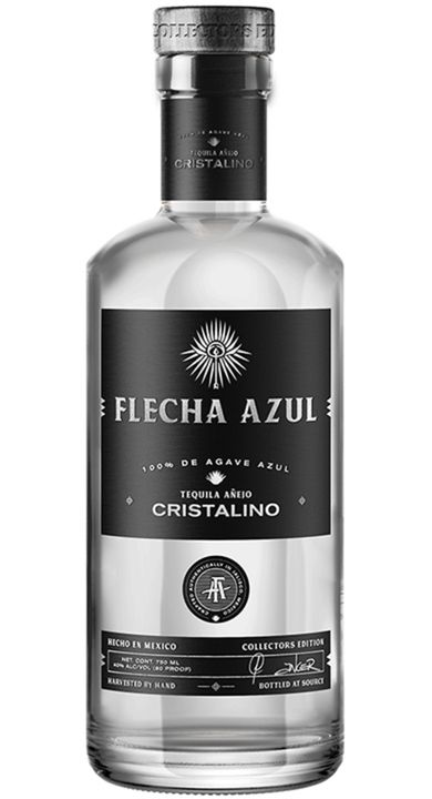 Bottle of Flecha Azul Cristalino Añejo