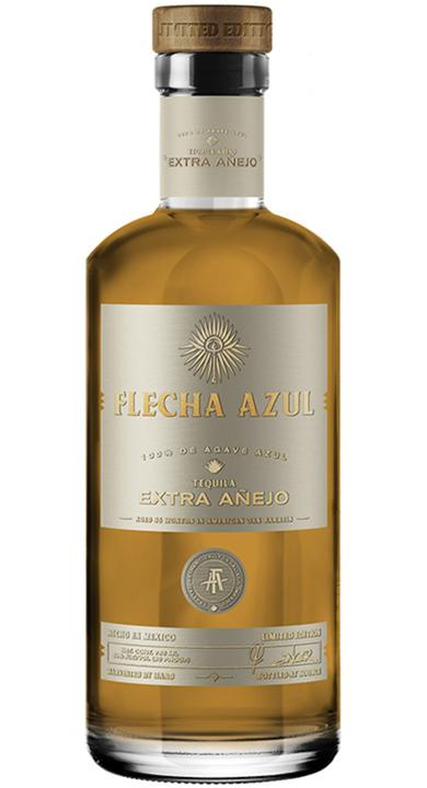 Bottle of Flecha Azul Tequila Extra Añejo