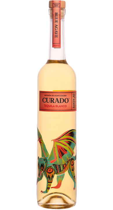 Bottle of Curado Tequila Blanco (Blue Agave)