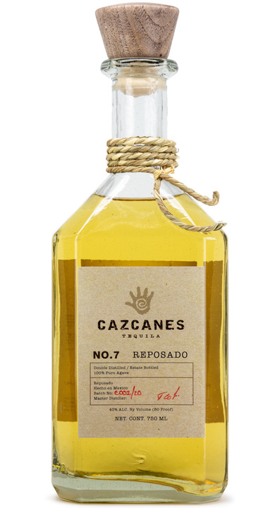 Bottle of Cazcanes No. 7 Reposado