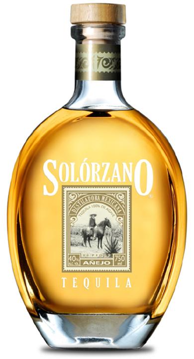 Bottle of Solorzano Añejo