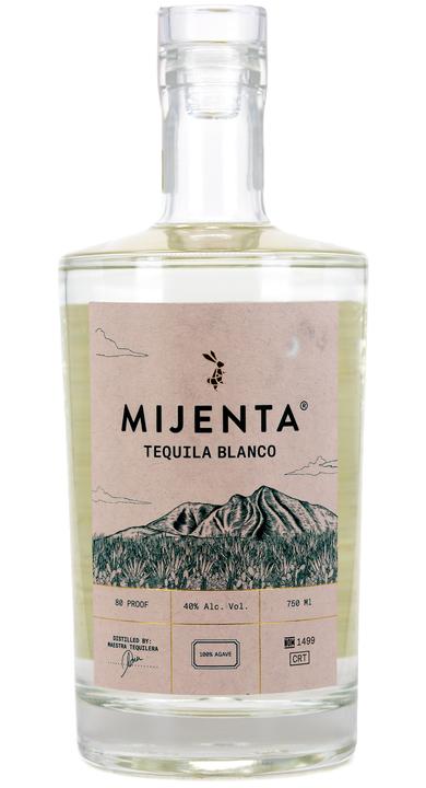 Bottle of Mijenta Tequila Blanco