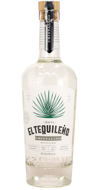 Bottle of El Tequileño Cristalino Reposado