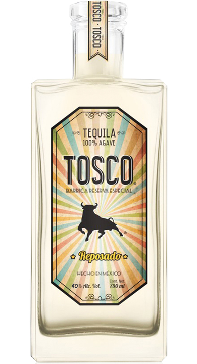 Bottle of Tosco Tequila Reposado