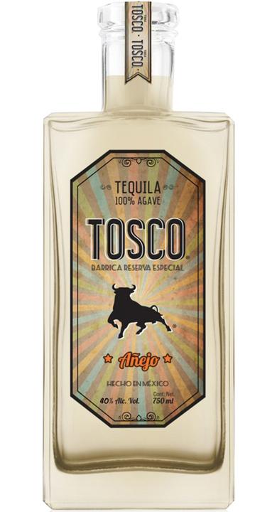 Bottle of Tosco Tequila Añejo