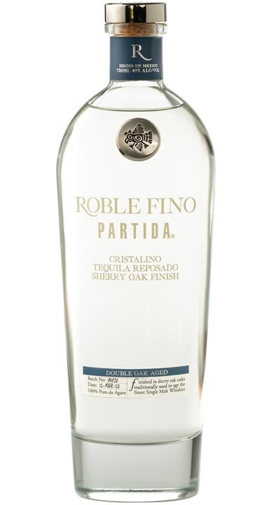 Bottle of Partida Roble Fino Tequila Reposado Cristalino