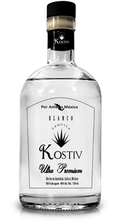 Bottle of Tequila Kostiv Blanco