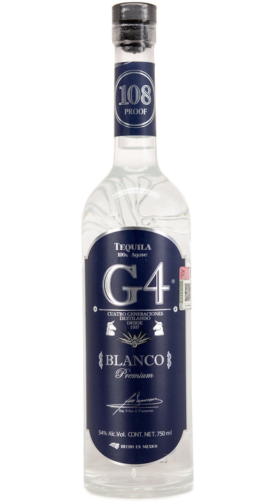 Bottle of Tequila G4 Blanco 108