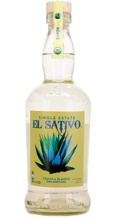 Bottle of El Sativo Organic Tequila Blanco