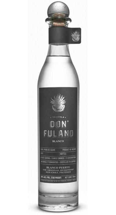 Bottle of Don Fulano Blanco Fuerte (100 proof)
