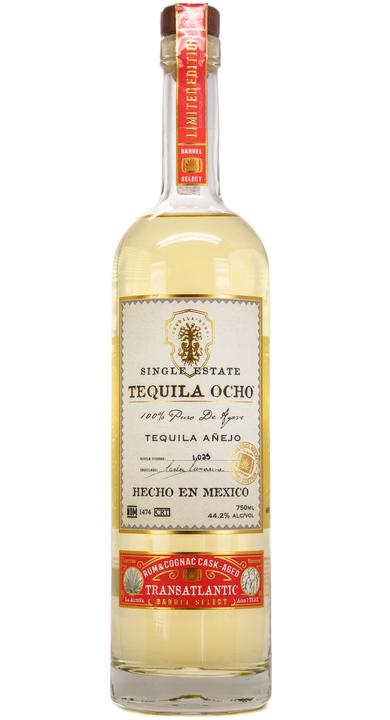Bottle of Ocho Tequila Añejo Transatlantic Barrel Select