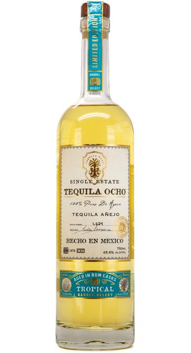 Bottle of Tequila Ocho Añejo Tropical Barrel Select