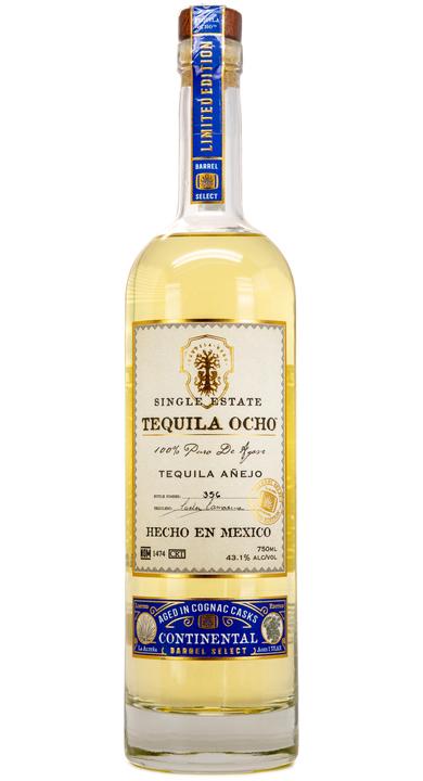 Bottle of Ocho Tequila Añejo Continental Barrel Select
