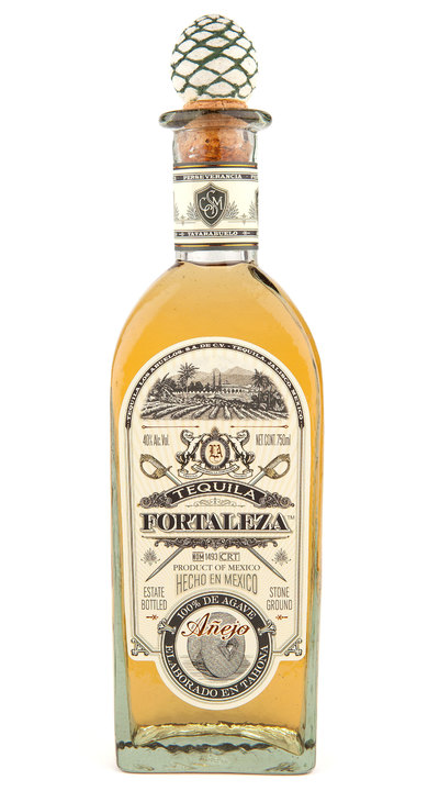 Bottle of Fortaleza Añejo