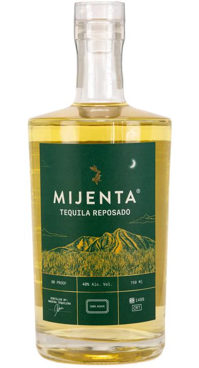 Bottle of Mijenta Tequila Reposado
