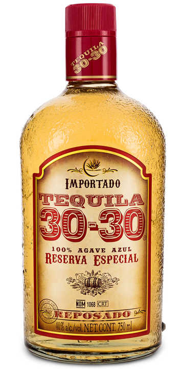 Bottle of Tequila 30-30 Reposado