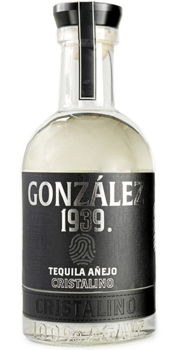 Bottle of González 1939 Tequila Añejo Cristalino