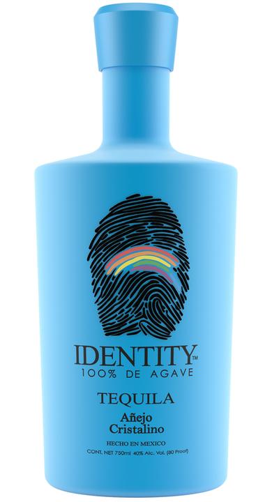 Bottle of Identity Tequila Añejo Cristalino