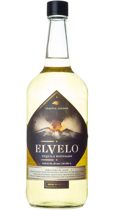 Bottle of Elvelo Tequila Reposado