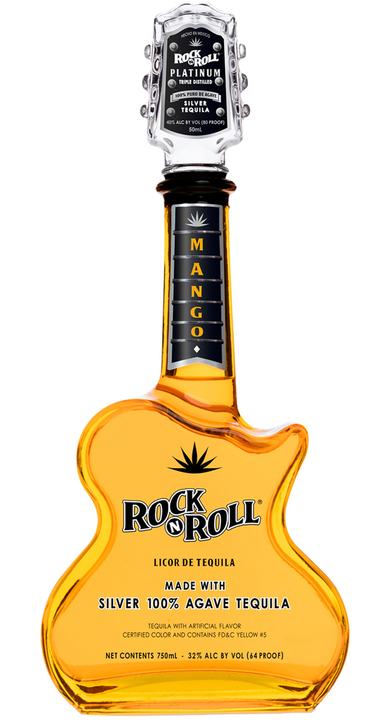 Bottle of Rock 'N Roll Tequila Mango Silver