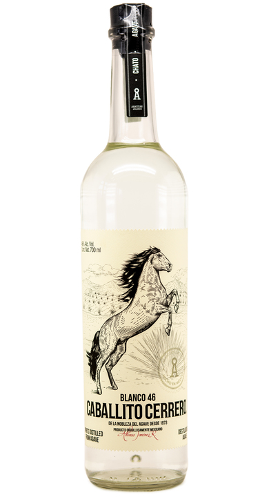 Bottle of Caballito Cerrero Chato Blanco 46