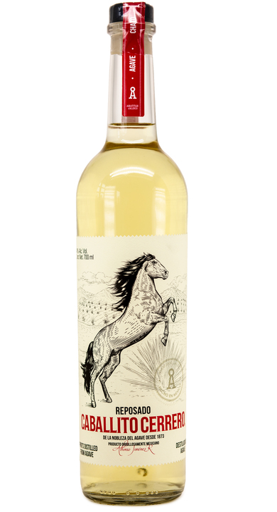 Bottle of Caballito Cerrero Chato Reposado