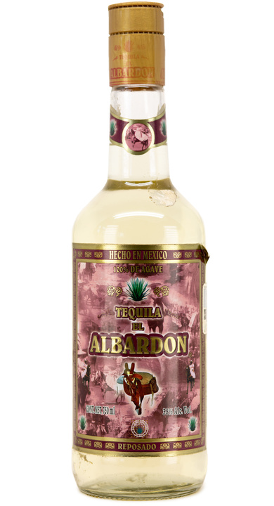 Bottle of Tequila El Albardon Reposado