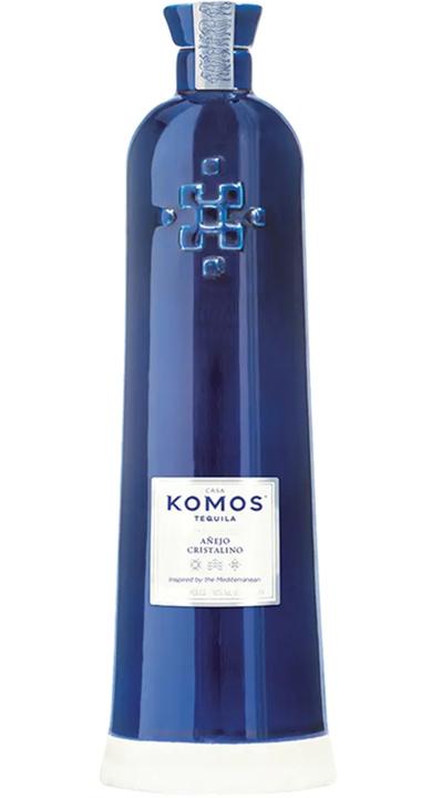 Bottle of Komos Tequila Añejo Cristalino