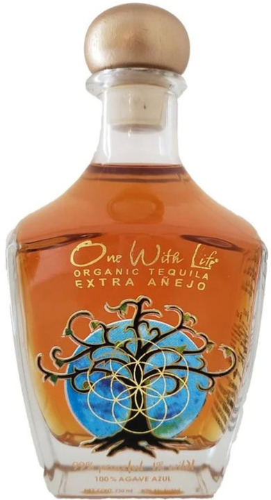 Bottle of One With Life Tequila Extra Añejo
