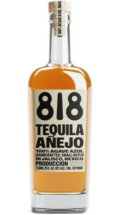Bottle of 818 Tequila Añejo