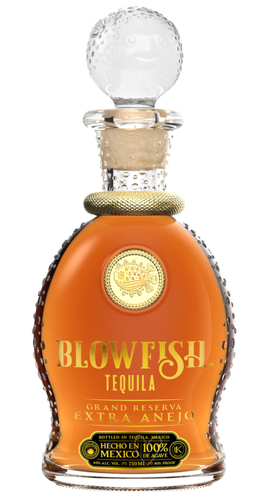 Bottle of Blowfish Tequila Extra Añejo