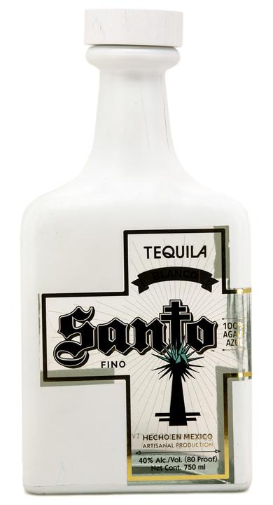Bottle of Santo Fino Tequila Blanco