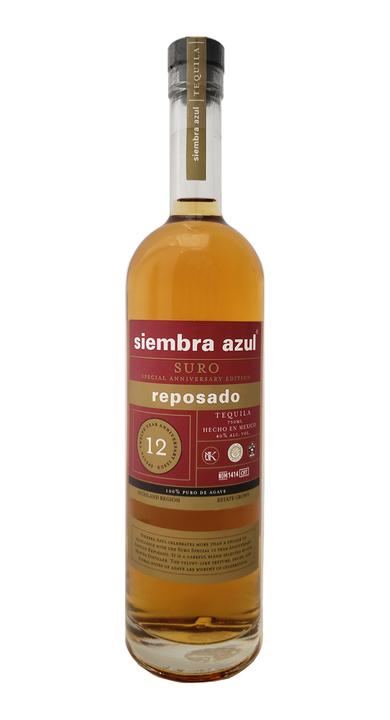 Bottle of Siembra Azul Suro 12th Anniv. Reposado