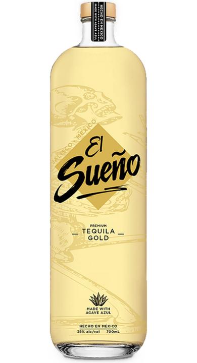 Bottle of El Sueño Tequila Gold