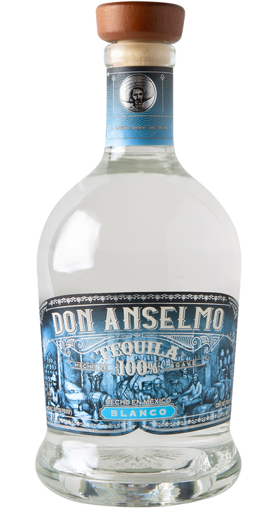 Bottle of Don Anselmo Tequila Blanco