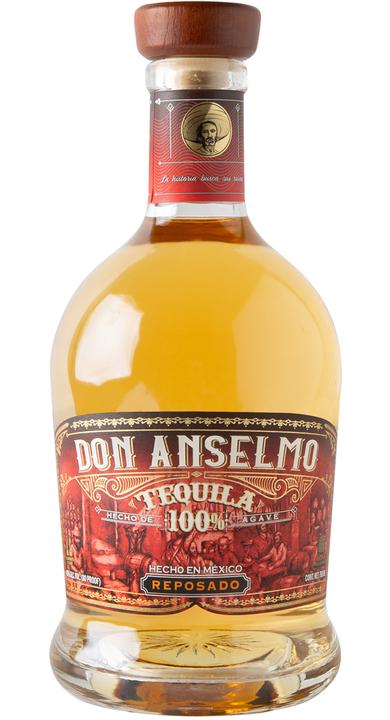 Bottle of Don Anselmo Tequila Reposado