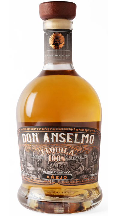 Bottle of Don Anselmo Tequila Añejo