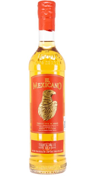 Bottle of El Mexicano Tequila Añejo
