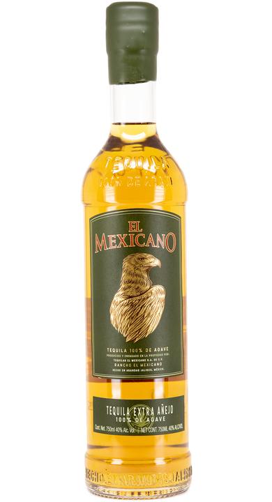 Bottle of El Mexicano Tequila Extra Añejo