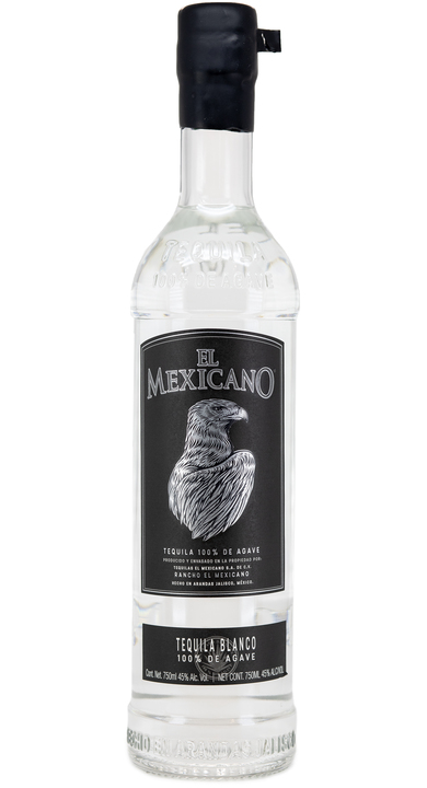 Bottle of El Mexicano Tequila Blanco High Proof