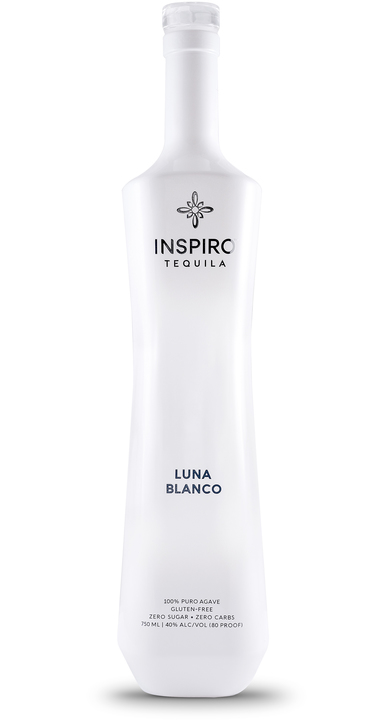 Bottle of Inspiro Tequila Luna Blanco