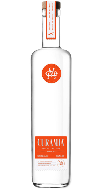 Bottle of Curamia Tequila Blanco